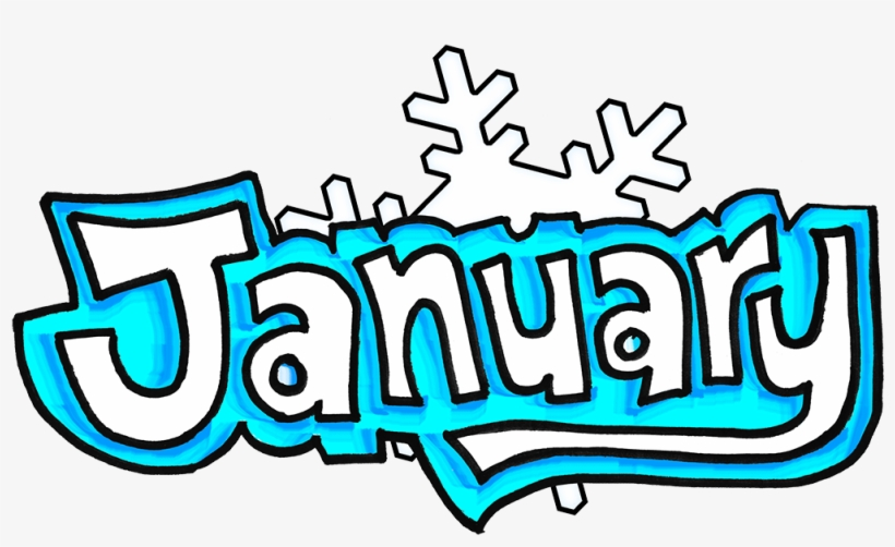 January Word Transparent PNG Image.