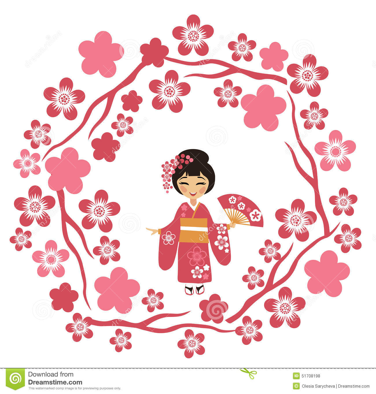 Japan sakura clipart.