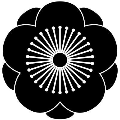 Japanese family symbol Plum flower.