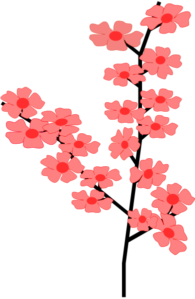 Japanese flower clipart.