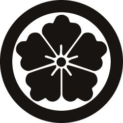 A chinese crest of flower.