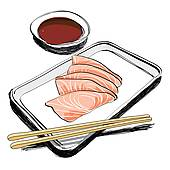 Traditional Japanese Food Clip Art.