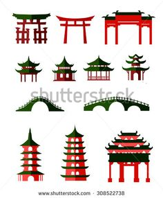 Japanese Garden Bridge Clip Art.
