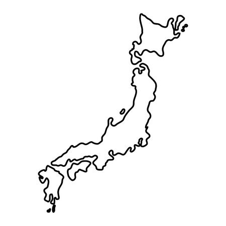 1,887 Japan Map Outline Cliparts, Stock Vector And Royalty Free.