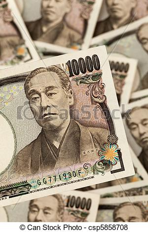 Pictures of Japanese yen notes. Money from Japan.