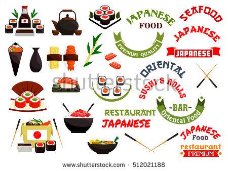 Sushi Emblem Vector Stock Photos, Royalty.