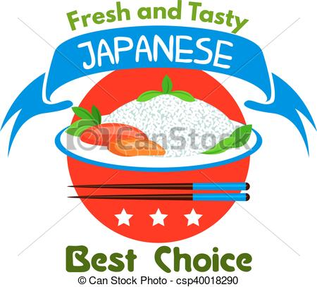 EPS Vectors of Japanese food. Fresh and tasty. Restaurant icon.