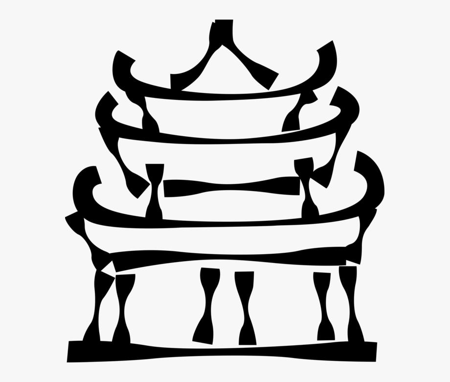 Japanese Temple Clip Art.