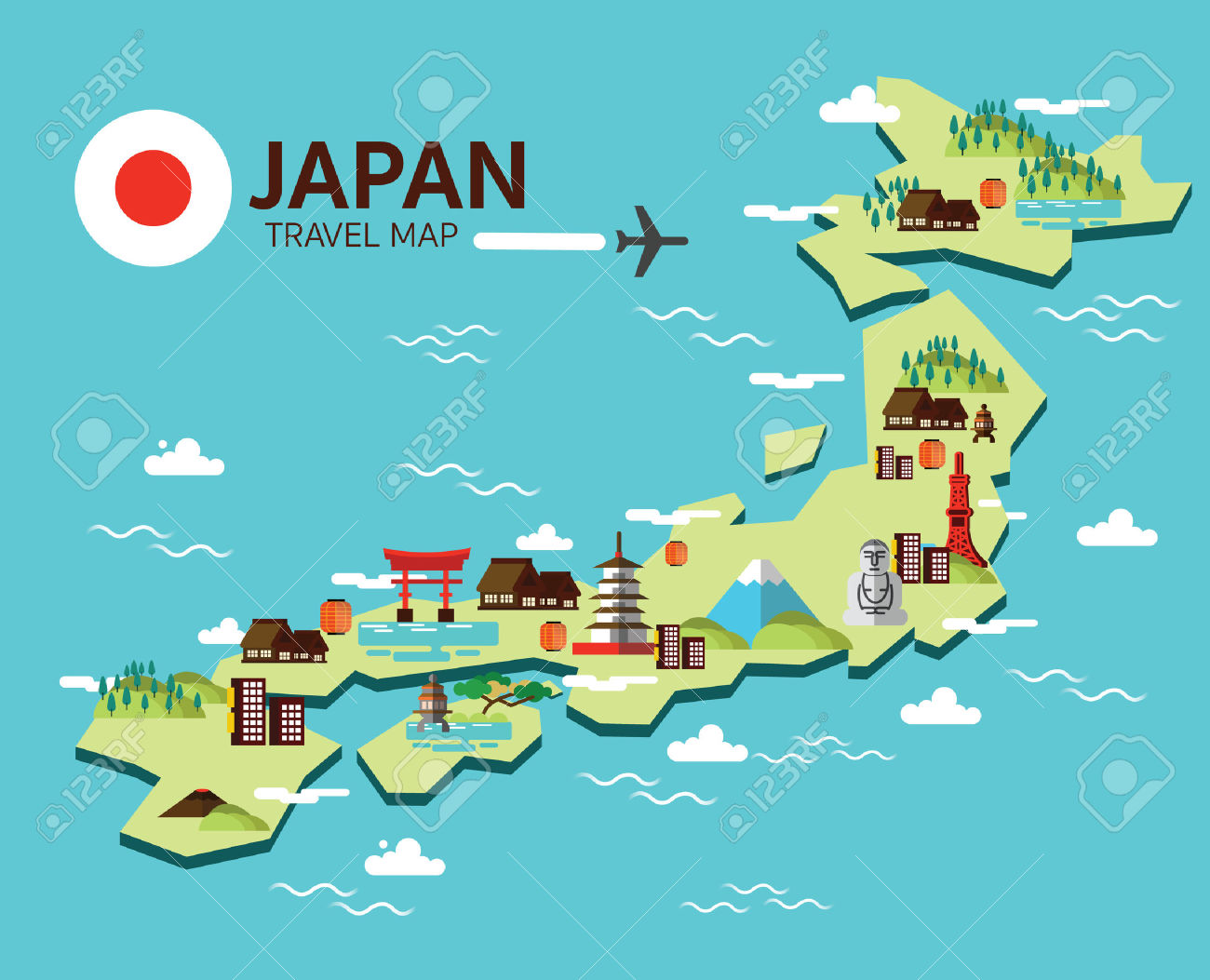 Travel Map Clipart Japan Cliparts Stock Vector And Royalty Free.