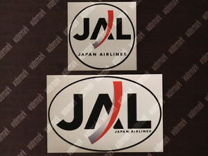 Details about 2x JAL JAPAN AIRLINES LOGO STICKERS / DECALS 1 ROUND + 1 OVAL.