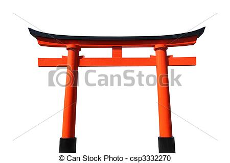 Stock Photography of Japanese Torii Gate.