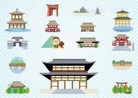 Japanese Architecture, Clipart.