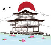 Japanese Architecture Clip Art.