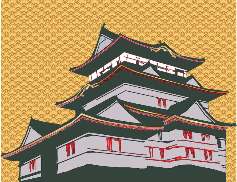 Japanese House Vector clip arts, free clipart.