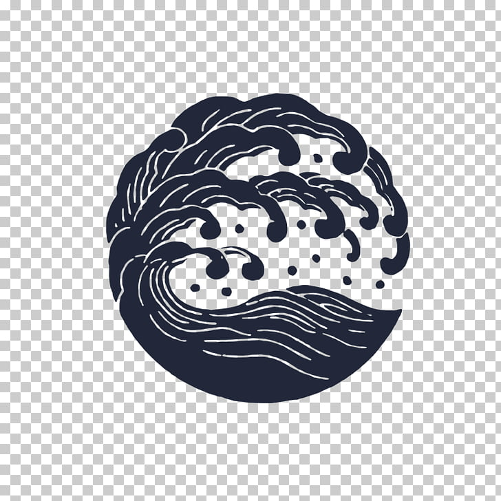 Japanese art Logo Wave Fame.