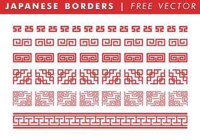 Japanese Border Free Vector Art.