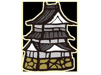 Free Japanese Castle Clip Art.