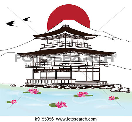 Japan castle Clipart and Illustration. 307 japan castle clip art.