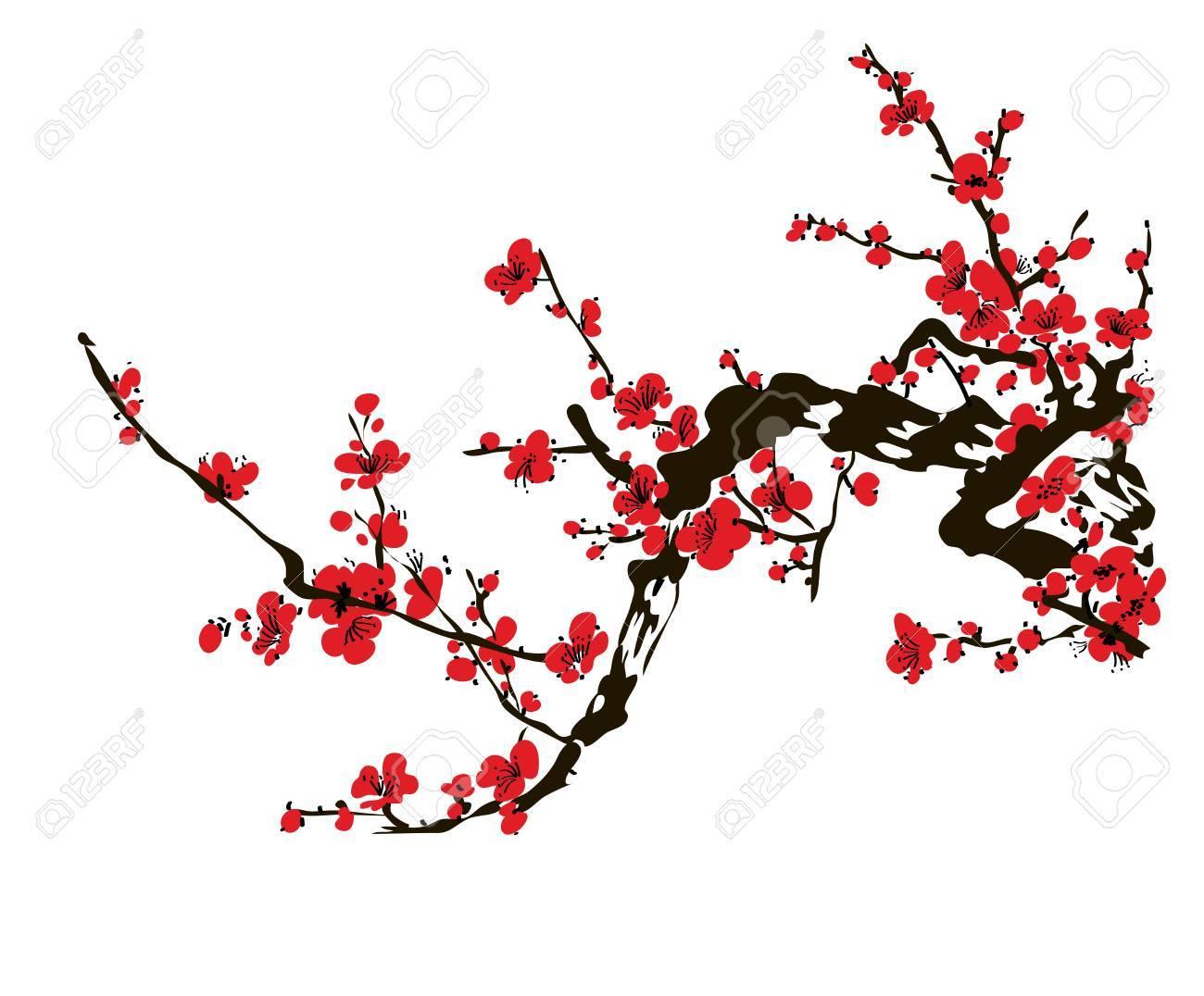 Japanese cherry blossom tree clipart 1 » Clipart Portal.