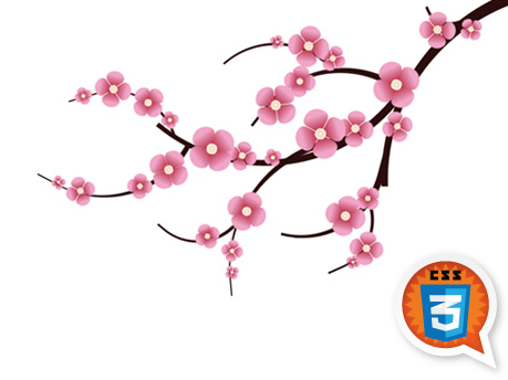 Cherry blossom branch clip art.