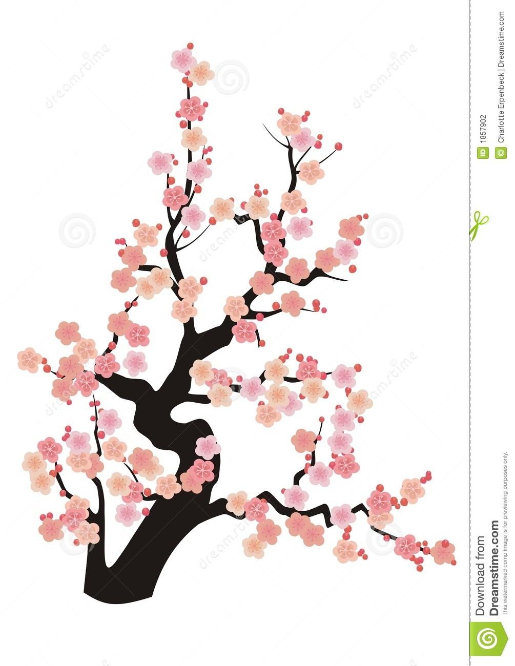 Japanese cherry blossom clip art.