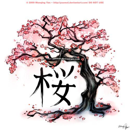 Japanese cherry blossom symbol.