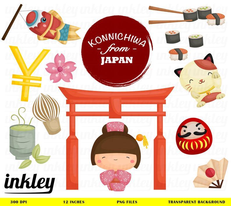 Japan Clipart, Japan Clip Art, Japan Png, Culture Clipart, Tradition  Clipart, Cute Kids Clipart, Tree Clipart, Kimono Clipart, Japanese.