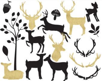 Deer clipart.