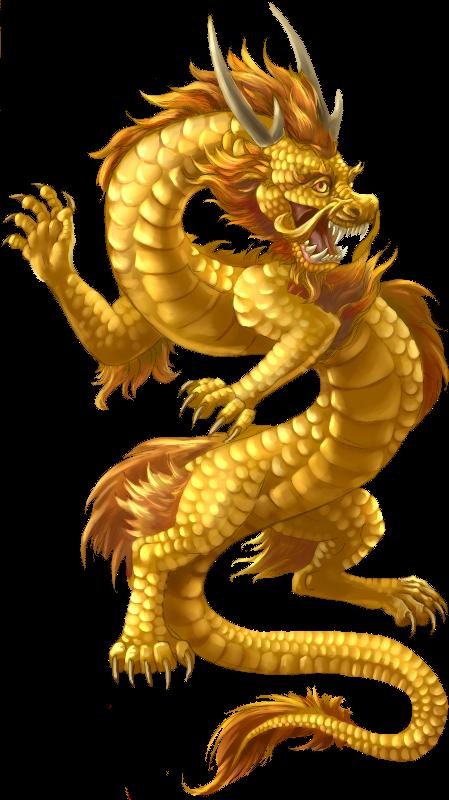 Japanese Dragon PNG File.