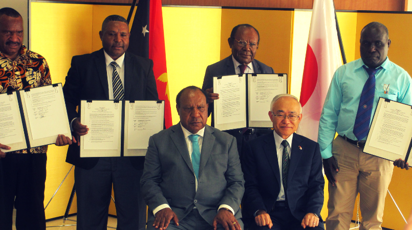 Over K2m grant aid contracts signed.