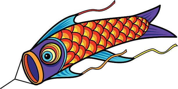 Best Japanese Fish Kite Illustrations, Royalty.