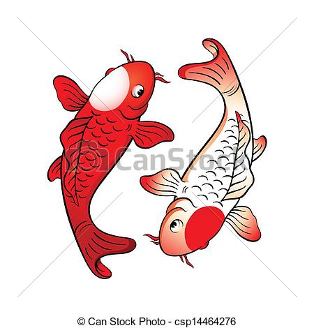 japanese koi fish clipart.
