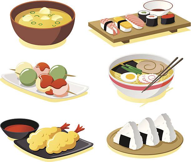 Best Japanese Food Illustrations, Royalty.
