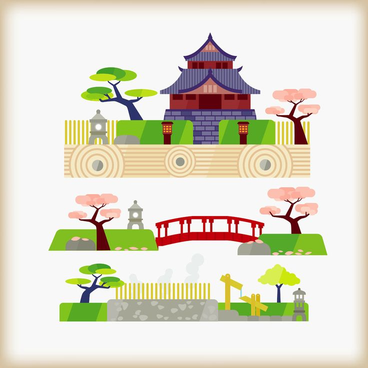 17 Best images about Japanese Garden Inspired Vector Art on.