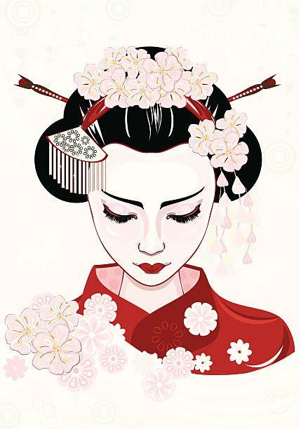 Royalty Free Geisha Clip Art, Vector Images & Illustrations.