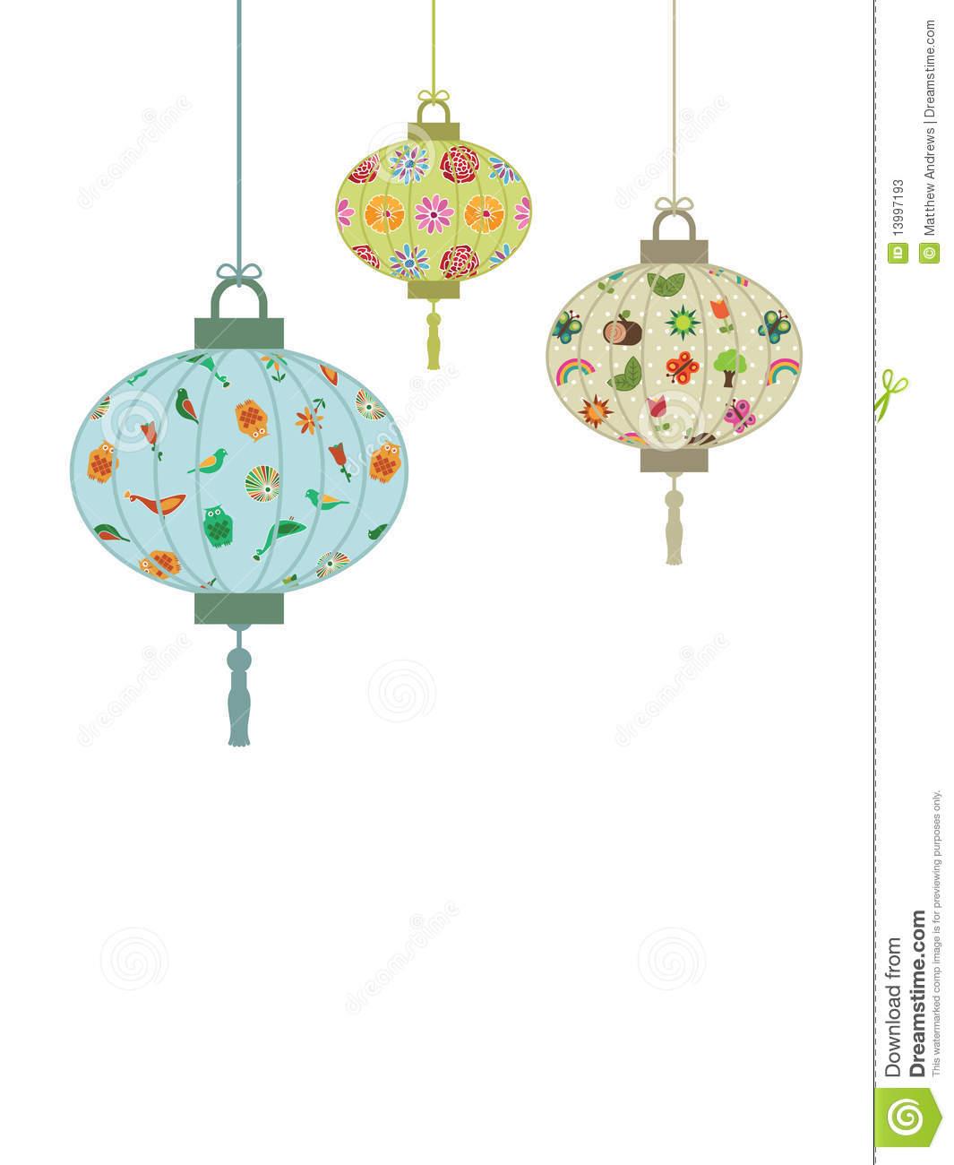 Japanese Lantern Clip Art.