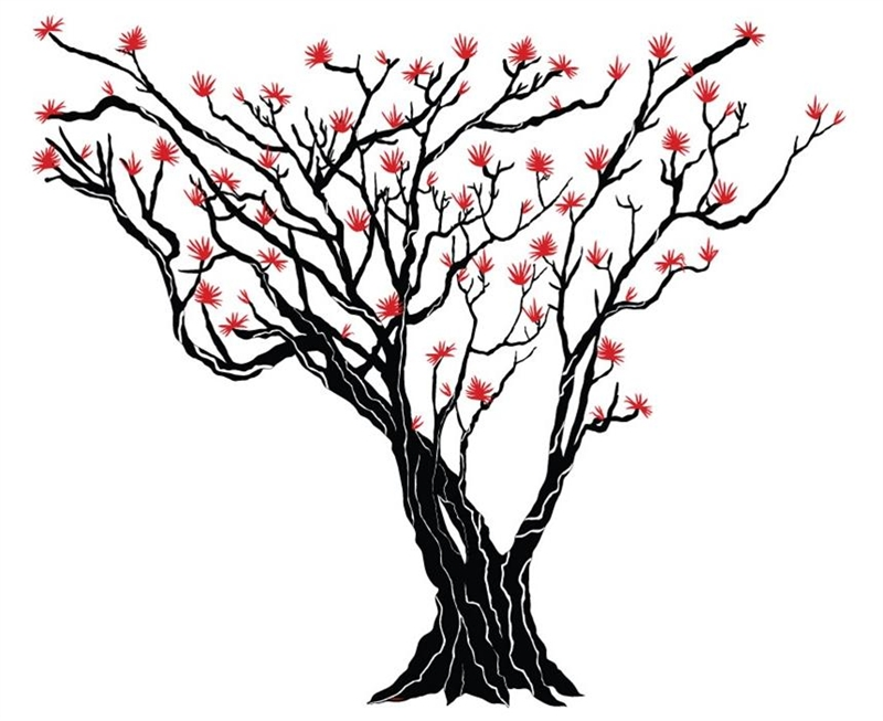 Japanese maple tree clipart.