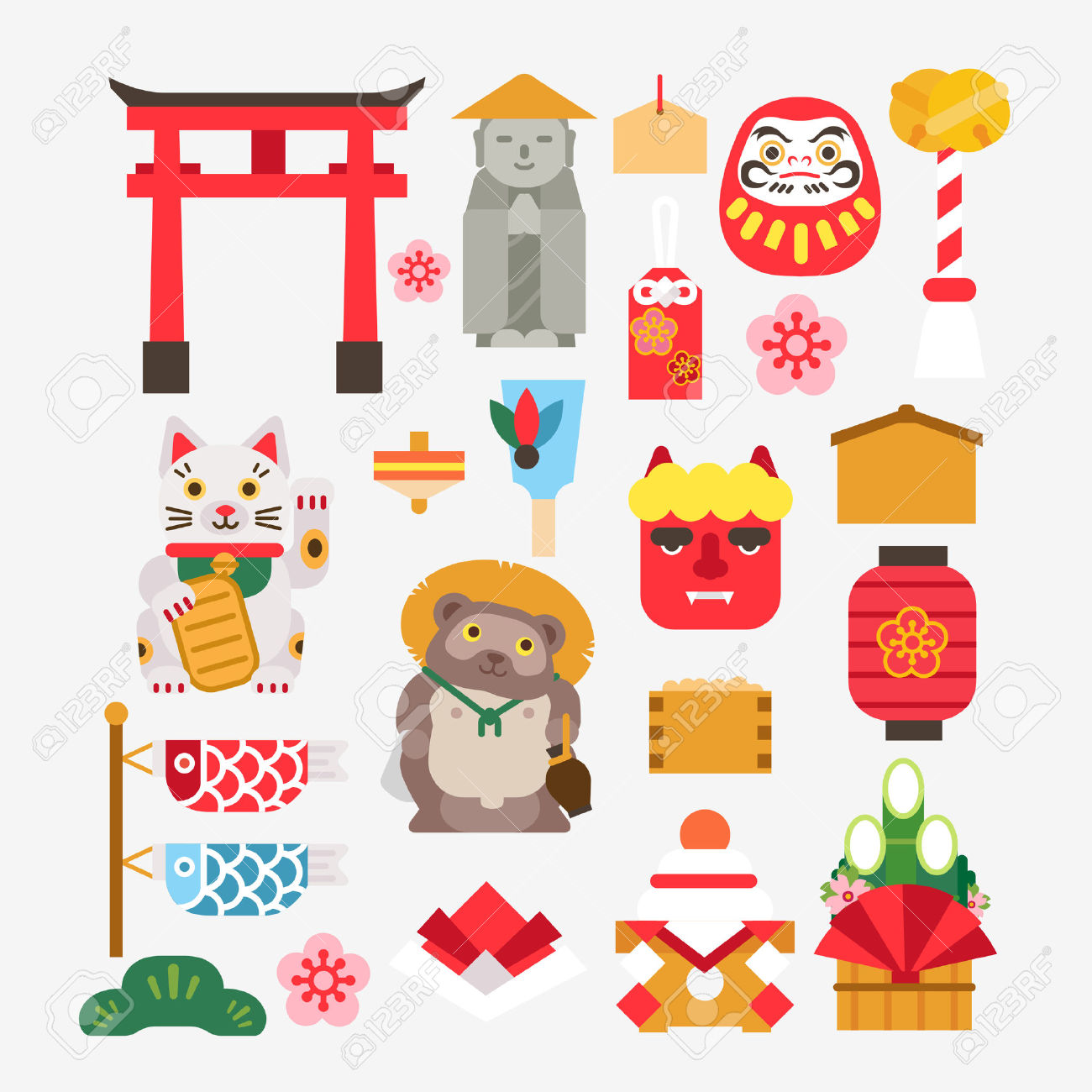 Collection Of Japanese New Year Royalty Free Cliparts, Vectors.