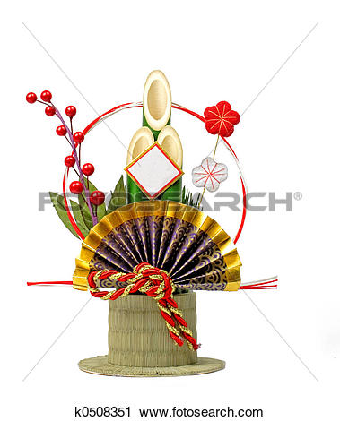 Stock Photography of Japanese new year decoration k0508351.