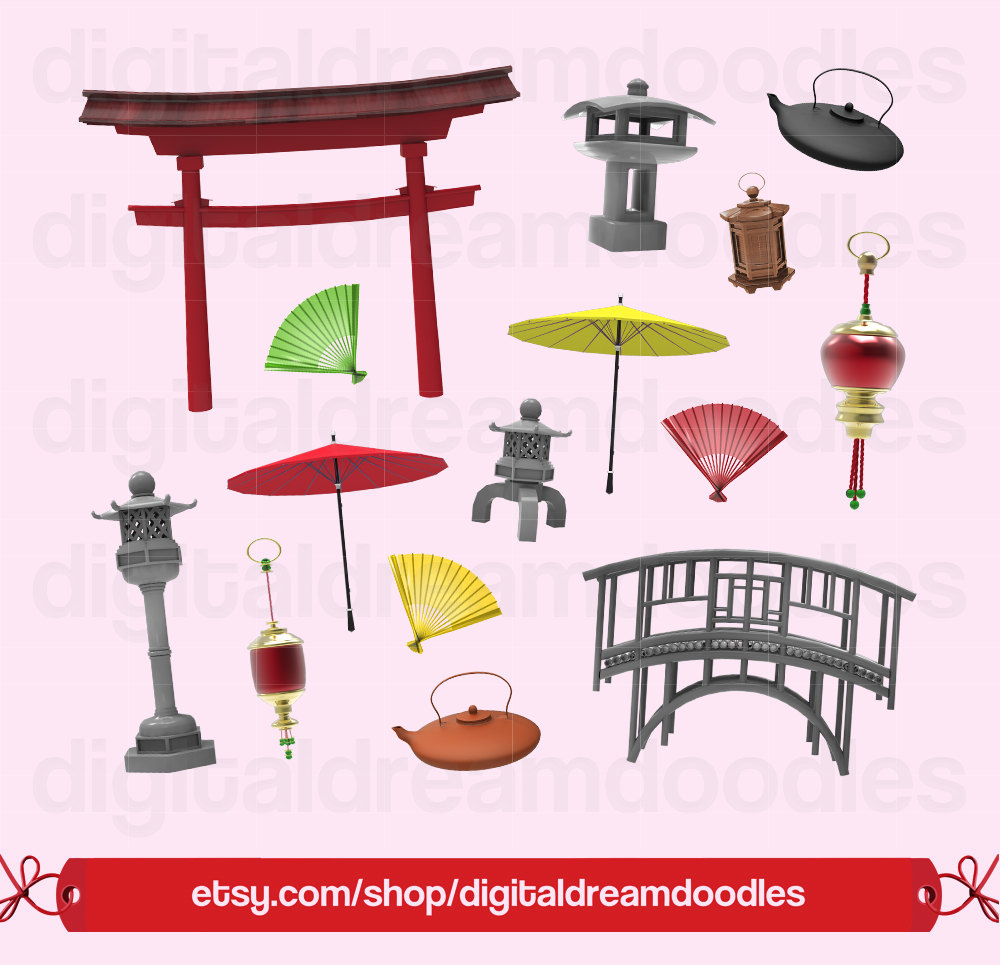 Japanese Clipart, Japan Gate Clip Art, Pagoda Clipart, Sushi PNG, Stone  Bridge Image, Asian Graphic, Sculpture Scrapbook, Digital Download.