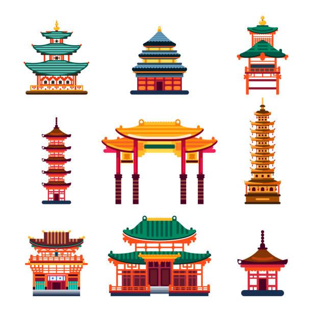 Best Japanese Pagoda Illustrations, Royalty.