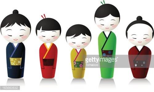 Japanese People premium clipart.