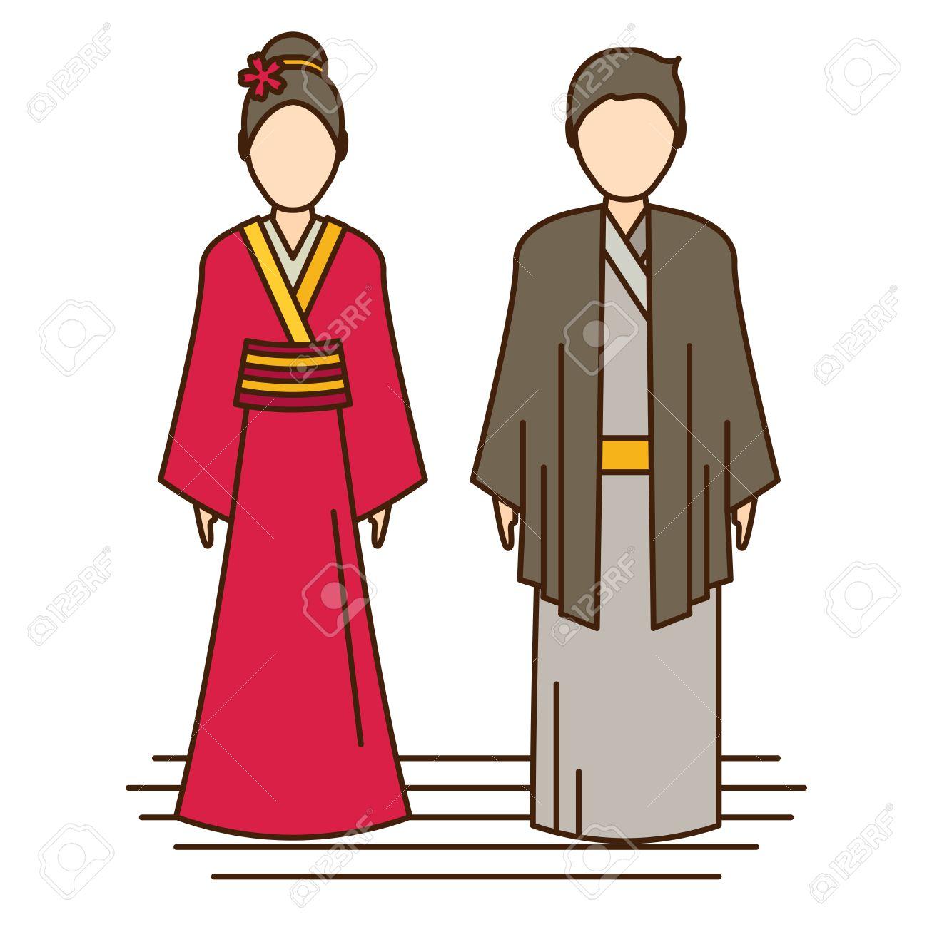 japan traditional costume, kimono.