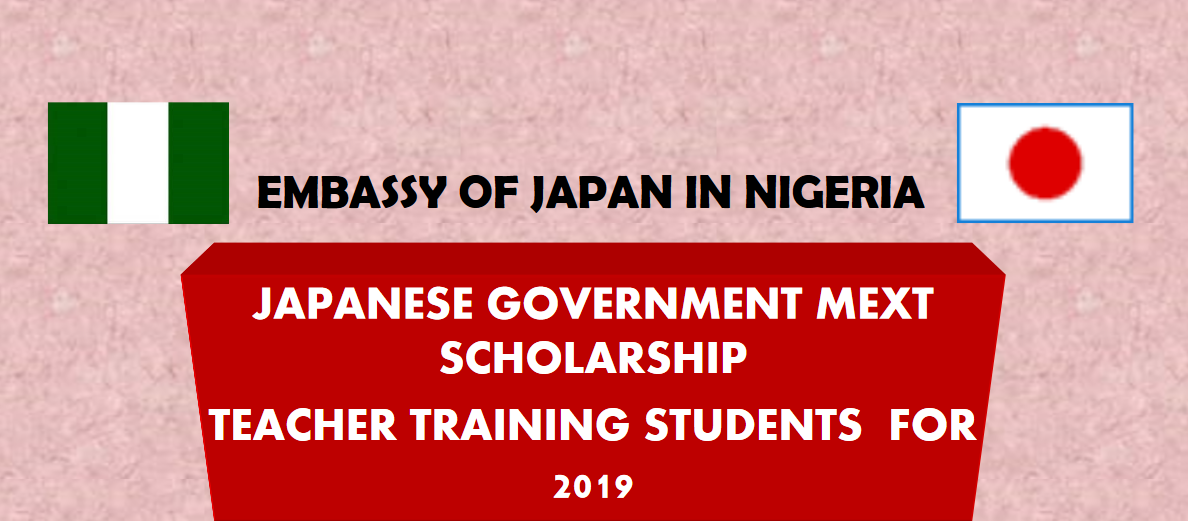 Japanese Government (MEXT) Scholarship 2019 for young Nigerian.