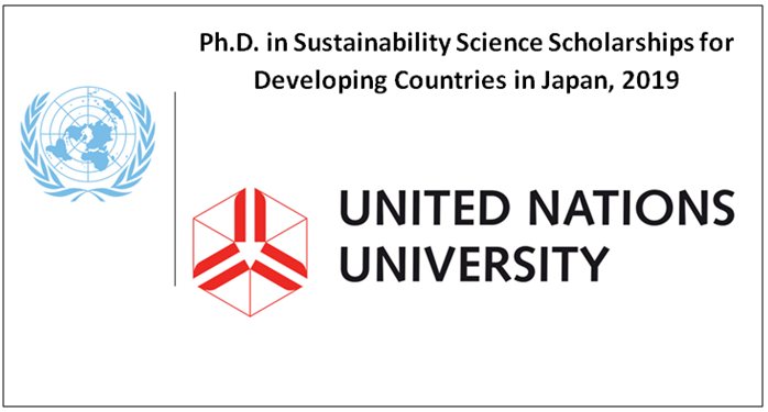 PhD in Sustainability Science Scholarships for Developing Countries.
