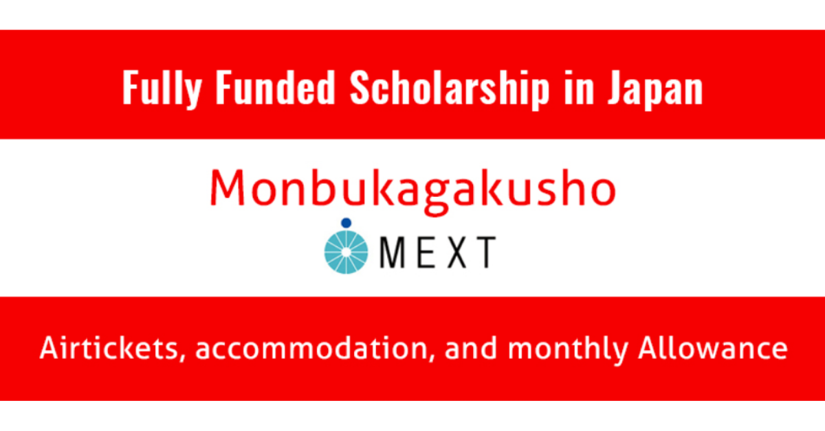 MEXT Japan Scholarship 2020.
