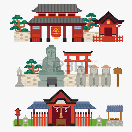 2,651 Japanese Temple Stock Illustrations, Cliparts And Royalty.