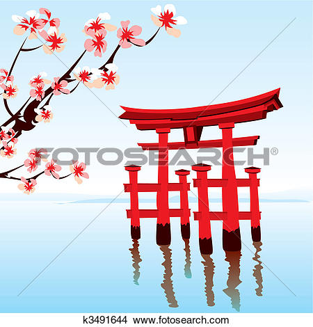 Stock Illustration of Japanese temple k7740278.