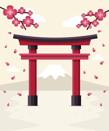 Japanese shrine clipart.