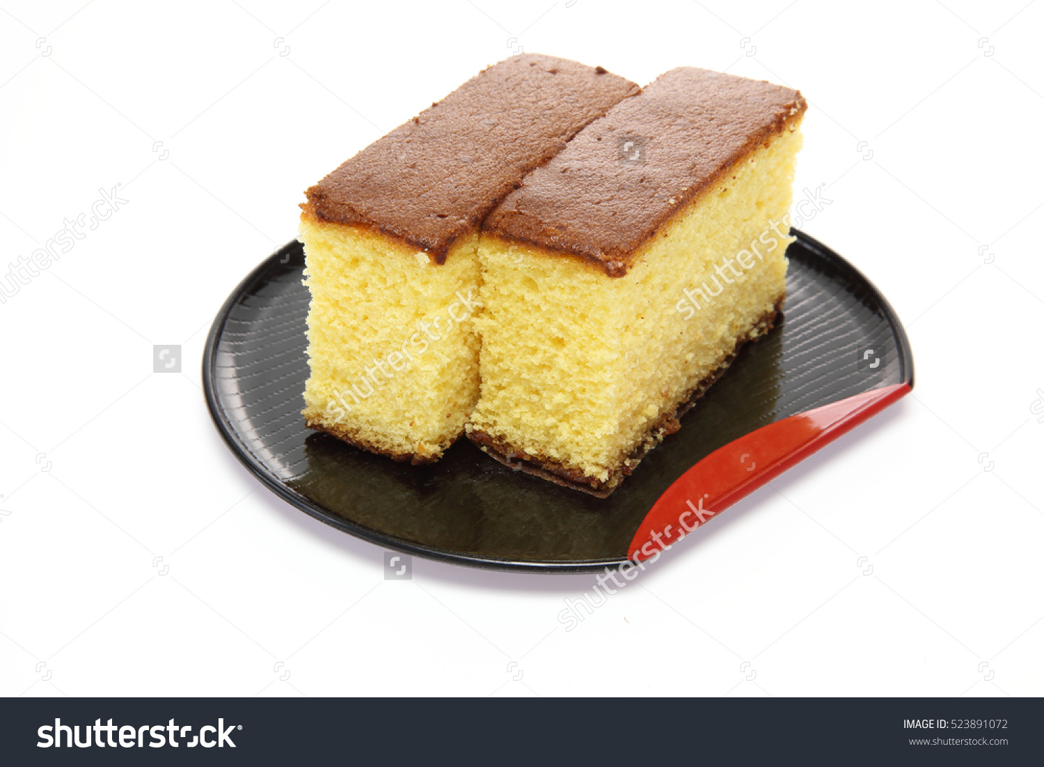 Japanese Sponge Cake Stock Photo 523891072.